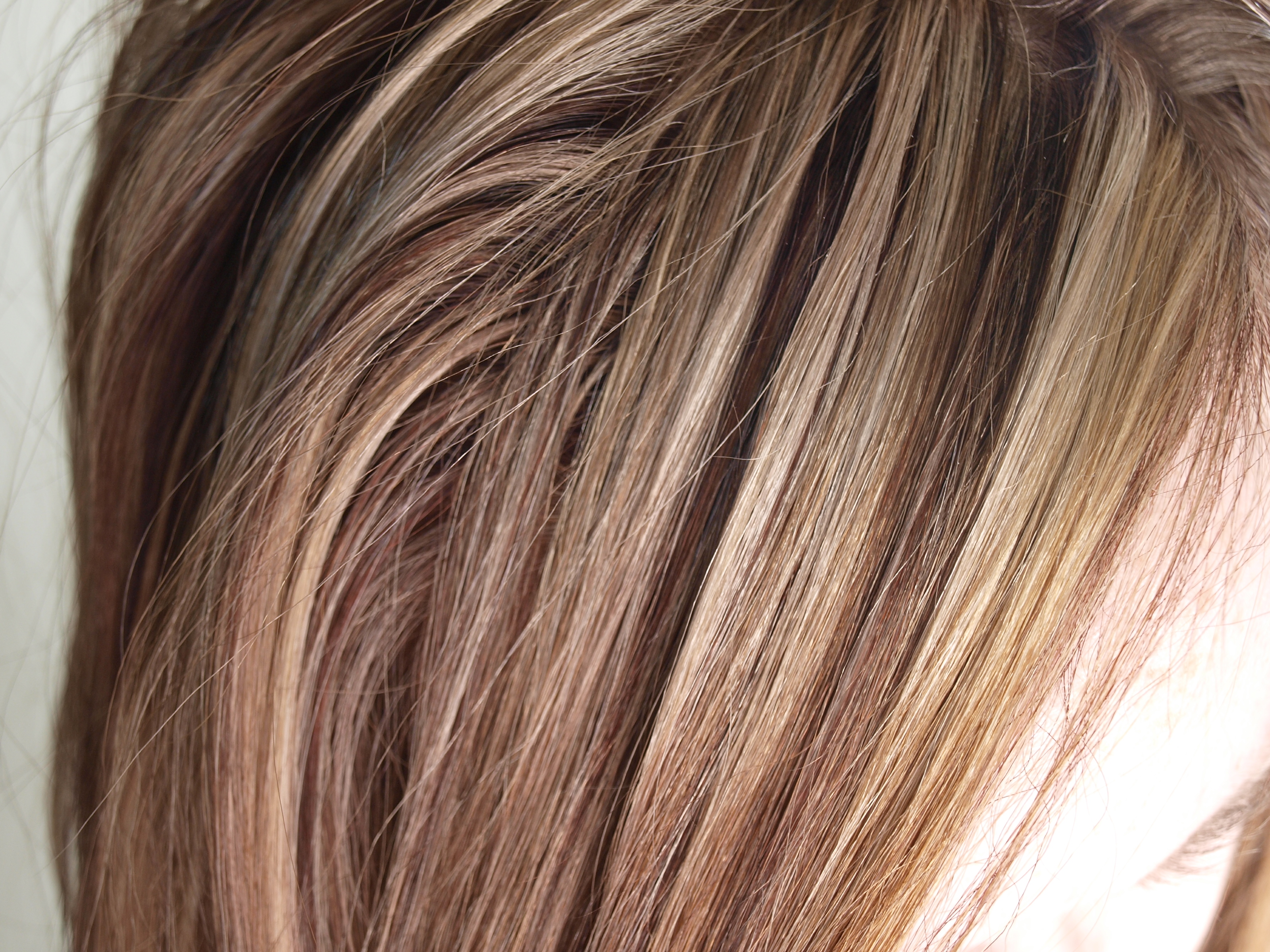 Heavy Blonde Highlights On Brown Hair Auburn with bright blonde